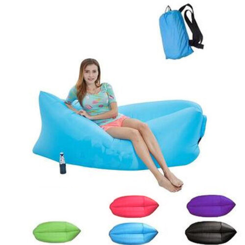 (Green) Inflatable Lounger | Folding Air Sofa