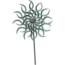 Spinning XL Spiral Metal Garden Wind Spinner Windmill Ornament Flower