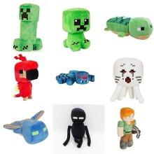 Minecraft Plush Toy Creeper Enderman Pig Pixel Doll