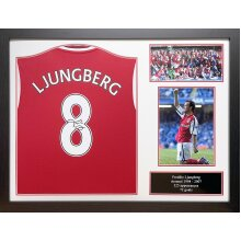 Framed Freddie Ljungberg signed Arsenal shirt with COA & proof