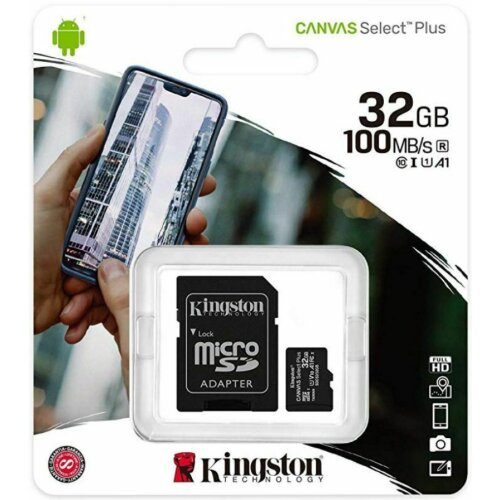 Kingston Canvas Select Plus 32 Gb Class 10/Uhs-I U1 Microsdhc 100 Mb/S Read SDCS2/32GB