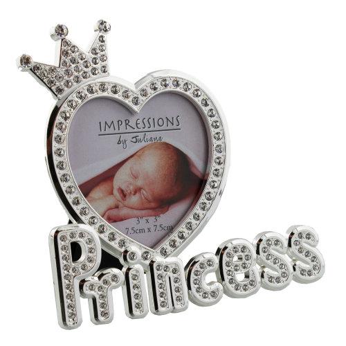 Silverplated & Epoxy Crystal Photo Frame 'Princess'