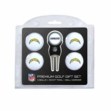 Team Golf NFL San Diego Chargers Regulation Size Golf Balls (4 Count) & Divot Tool with Removable Double-Sided Magnetic Marker