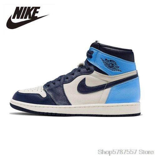 Original Nike Air Jordan 1 Obsidian Men,s Basketball Shoes