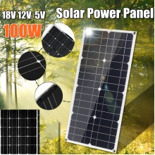 100W 18V Monocrystalline Solar power Panel for 12V Battery Charger