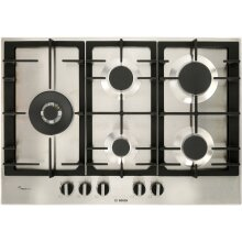 Bosch PCS7A5B90 Serie 6 Built In 75cm 5 Burners Gas Hob Stainless Steel
