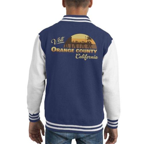 (Medium (7-8 yrs)) Visit Orange County Retro California Kid's Varsity Jacket
