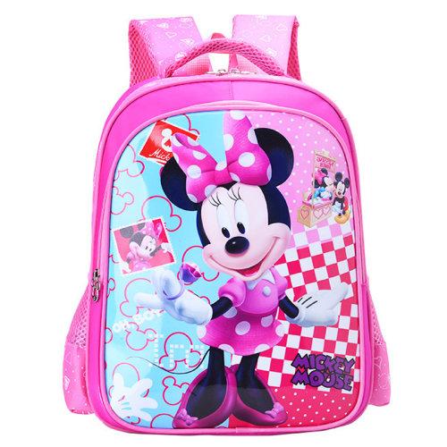 (Pink #2) Kid Boys Girls Cartoon Mickey Superhero Backpack School Bag Satchel