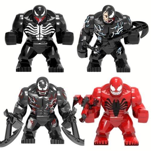 Marvel Character, Venom Big Size Anti Carnage Model, Figure Blocks, Construction Building Bricks Toys
