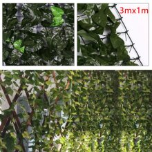 3M x 1M Artificial Ivy Leaf Screen Hedging Wall Cover Hedge Garden
