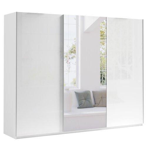 Sliding Door 270 Wardrobe MAROCCO with 9 Shelves & 1 Rail