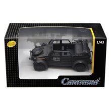 cararama New DIEcAST Toys cAR 1:43 Military Vehicles - Volkswagen KUBELWAgEN convertible K Type 82 Black 4-90650