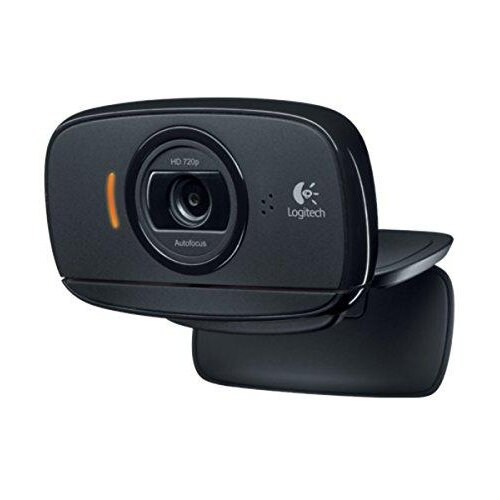 Logitech B525 Portable Business Webcam, HD 720p/30fps, Widescreen HD Video Calling, Foldable, HD Light Correction, Autofocus, 360° Swivel, For Skype