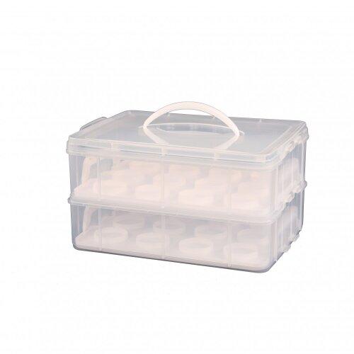 Oypla 2 Tier Cupcake Cake Holder Portable Storage Carrier Box