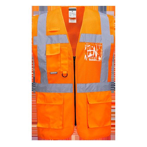 (Orange, XXL) Madrid Executive Mesh Vest