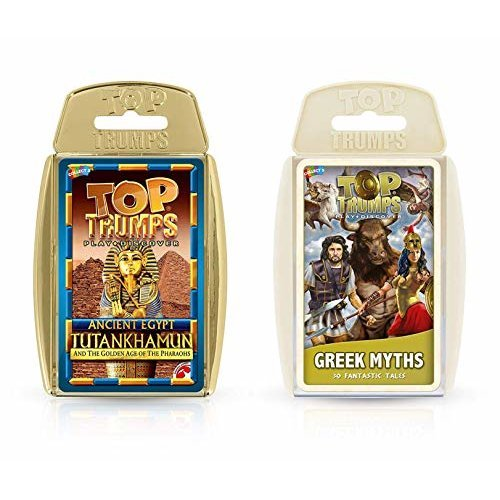 Top Trumps Ancient Egypt and Greek Myths Card Game Bundle