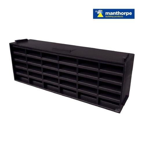 "5 x Blue / Black Interlocking Air Brick Vents 9"" x 3"" for Air Flow Ventilation"