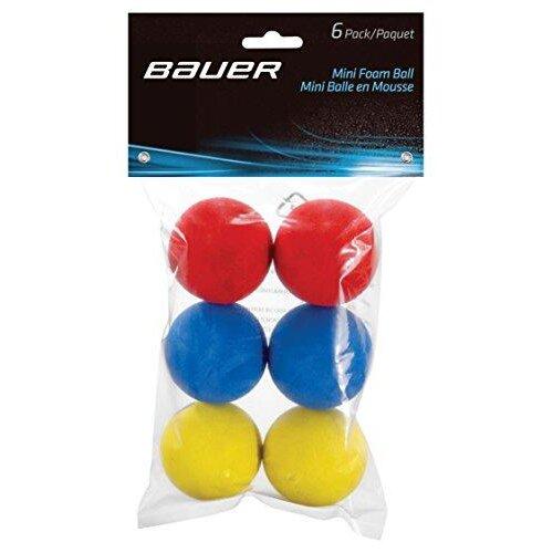 Bauer Mini Foam Ball (Pack of 6), Red