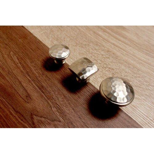 Silver Cast Iron Chest Drawer Knob Handle Wardrobe Cabinet Kitchen Cupboard Pull
