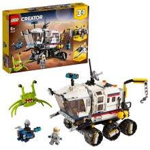 LEGO 31107 Creator 3in1 Space Rover Explorer, Base & Shuttle Flyer Building Set, Spaceship Construction Toy
