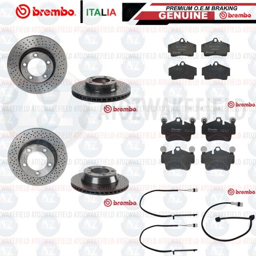 FOR PORSCHE 911 CARRERA 996 997 FRONT REAR BREMBO BRAKE DISCS PADS WIRES