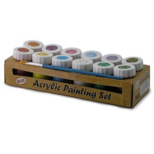 12 Colour Acrylic Painting Set -  acrylic set painting 12 colour