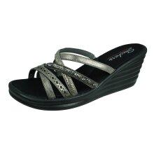 Skechers Rambler Wave New Lassie Womens Wedged Sandals - Silver