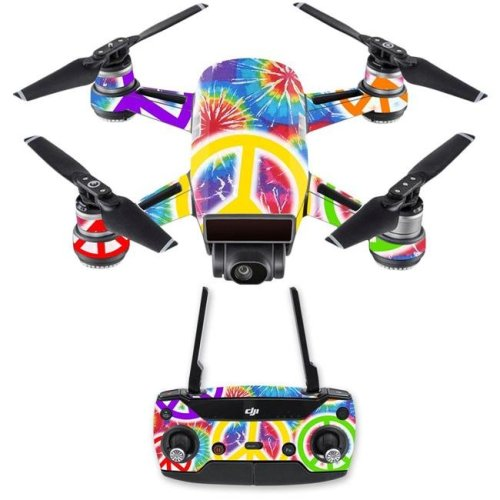 MightySkins DJSPCMB-Peaceful Explosion Skin Decal for DJI Spark Mini Drone Combo - Peaceful Explosion