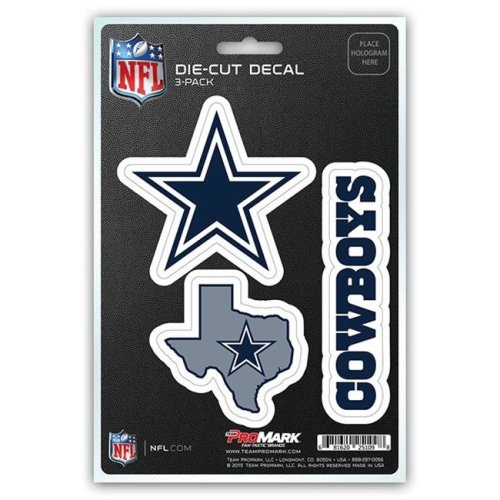 Pro Mark DST3NF09 Dallas Cowboys Decal - Pack of 3