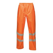 Regatta High Visibility Mens Hi Viz Pro Waterproof Pack Away Trousers Pants