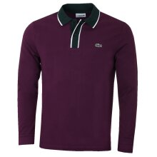 Lacoste Mens Long Sleeved Ribbed Collar Heavy Pique Polo Shirt