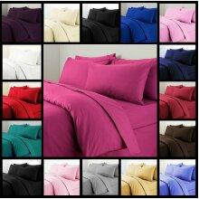Plain Duvet Cover Quilt Bedding Set & Pillowcase