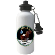 NASA Apollo 11 Mission Badge Aluminium Sports Water Bottle