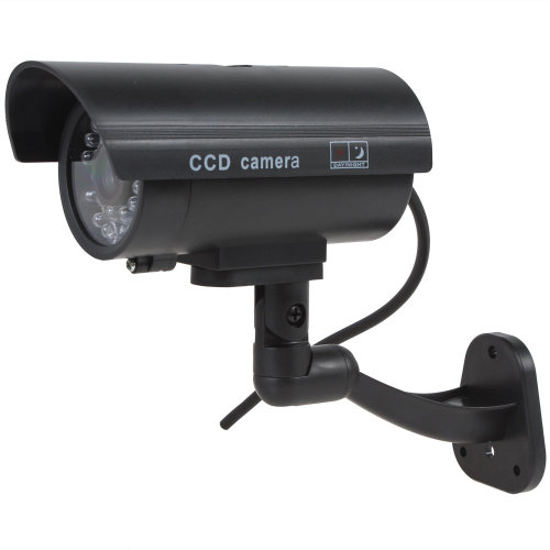 Kabalo Realistic Dummy CCTV Security Camera Flashing Red LED Indoor Outdoor Black