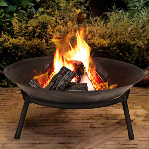 URBN Living Cast Iron Fire Bowl   Traditional Outdoor Log Fire Pit