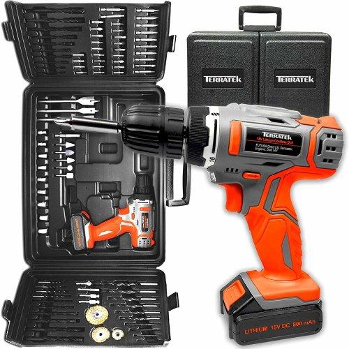 Terratek 89 Piece Combi Drill Complete Tool & Accessory Set