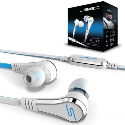 SMS Audio Street by 50 Cent SMS-EBV2-WHT-GP Ghost White in Ear Earphones Wired