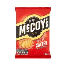 The Real McCoys Ridge Cut Salted 50g x 36 Bags