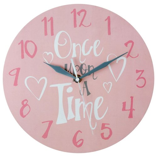 Once Upon A Time Kids Wall Clock, Pink