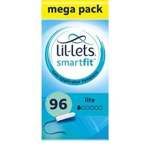 Lil-Lets Non-Applicator Lite Tampons X 96 | 6 Packs of 16 | Light Flow