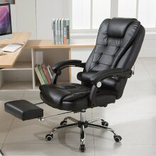 Luxury Computer Office Chair Gaming Swivel Recliner Soft Leather