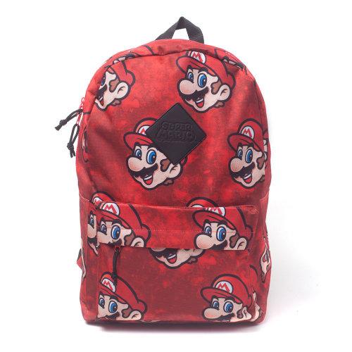 NINTENDO Super Mario Bros. Mario Sublimation Backpack, Red (BP130733NTN)