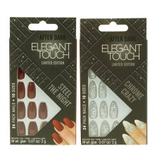 2 x Elegant Touch False Nails Steel The Night & Crazy Chrome