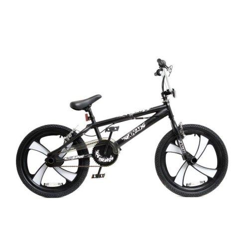 """(Black / White) XN BMX Freestyle 20"""" MAG Wheel Kids Bike 4 Colours"""
