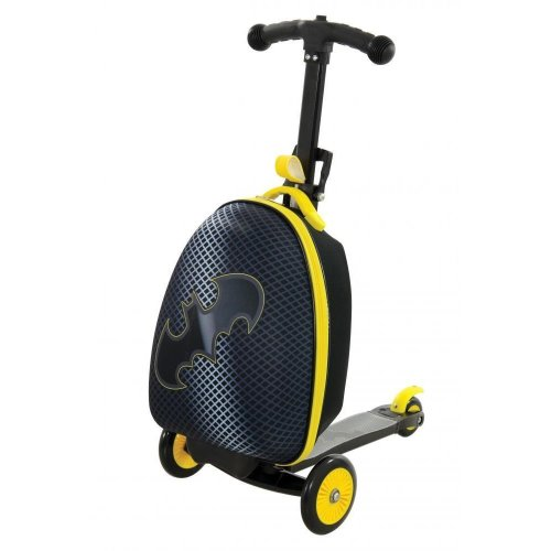 Batman Kids Scootcase 3 In 1 Push Scooter With Luggage Suitcase 3 Wheels M14658