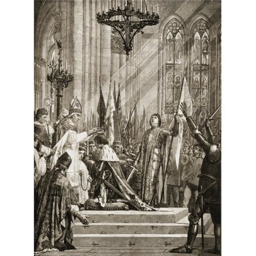 Joan of Arc 1412-1431 At The Coronation of Charles Vii From The Mural Painting by J.E. Lenefyeu Poster Print, 13 x 17