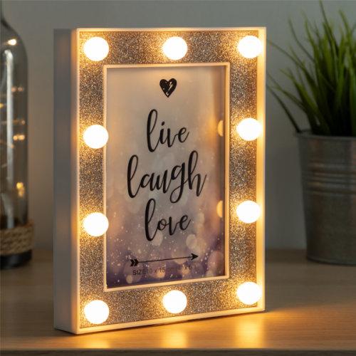 LED Photo Frame with Glitter