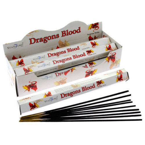 Stamford Hex Incense Sticks - Dragons Blood - Set of 6