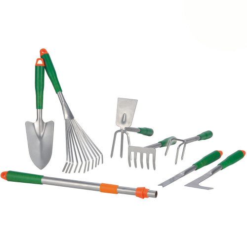 8pc GEEZY Metal Gardening Tool Set With Telescopic Handle