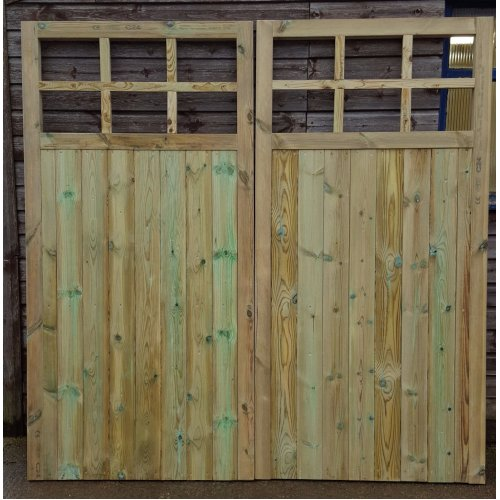 Wooden Large Cross Frosted Acrylic Window Garage Doors